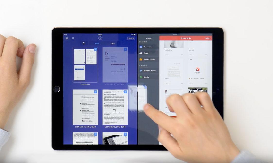 Readdle võimaldab faile iPadi rakenduste vahel lohistada