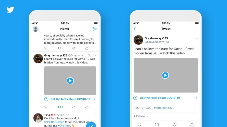 Twitter hoiatab nüüd kasutajaid väljaannetest, milles on valeteavet COVID-19 kohta