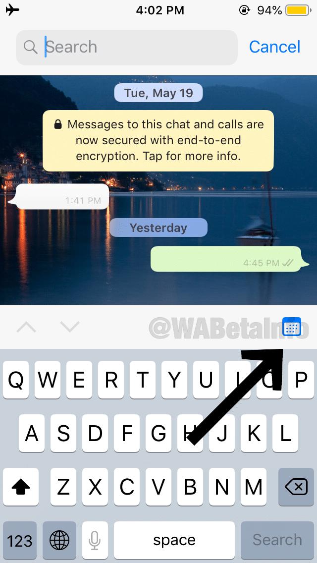 WhatsAppi test otsib konkreetseid kuupäevi, tööriistu, mis keskenduvad salvestusruumi kasutamisele ja muud